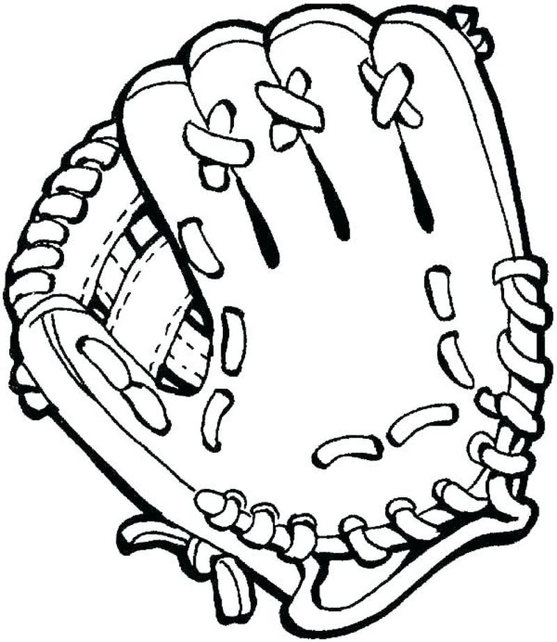 Baseball Glove Coloring Pages Baseball Is One Of The Sports Of A