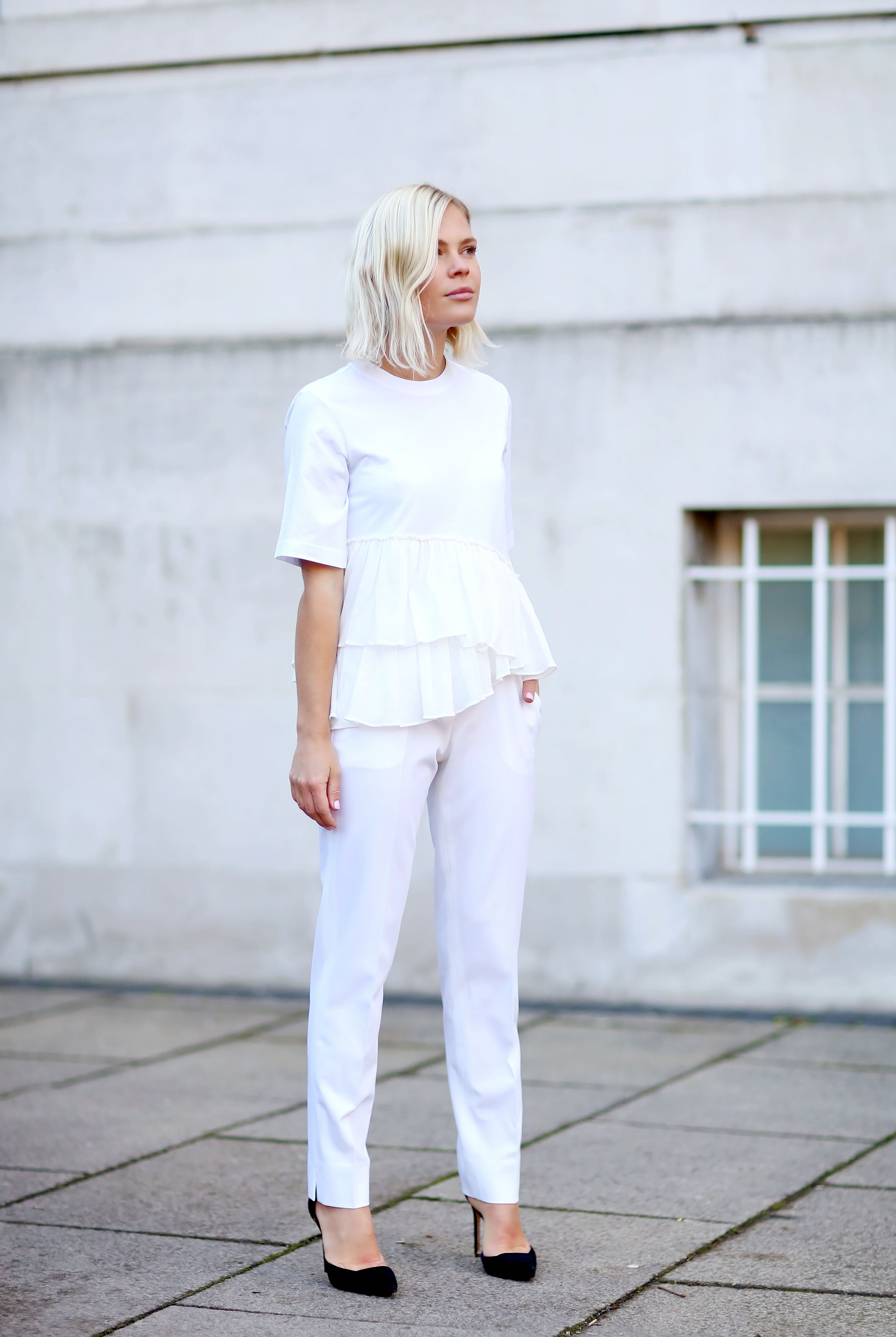 Chloe top and theory trousers wethepeoplestyle long