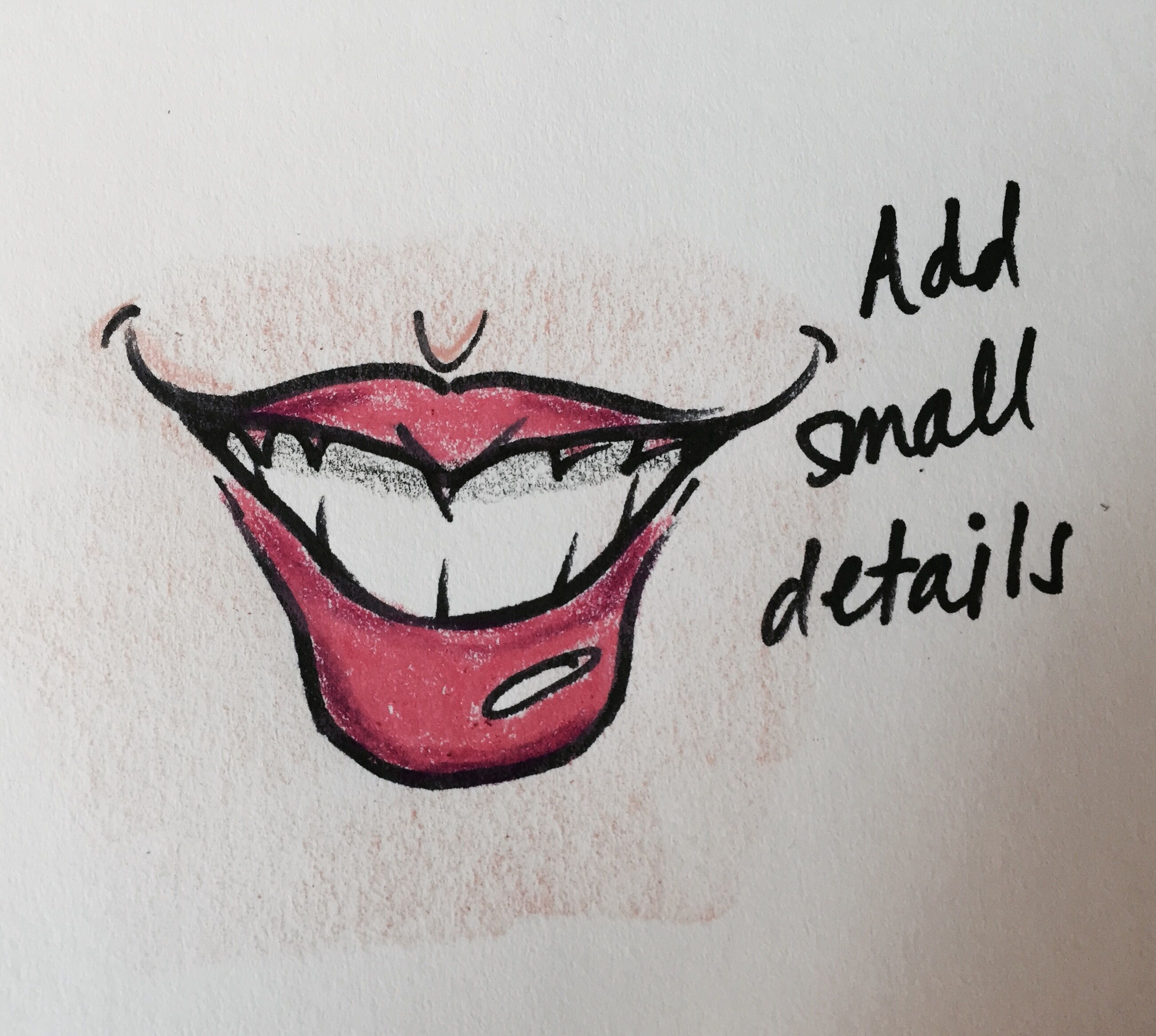 How to Draw Caricatures: Smiling Mouth   courtneywoolford