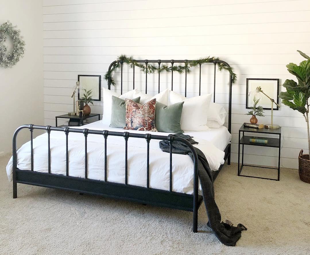 Knox Queen Metal Panel Bed Small Guest Bedroom Simple Bedroom Rustic Bedroom