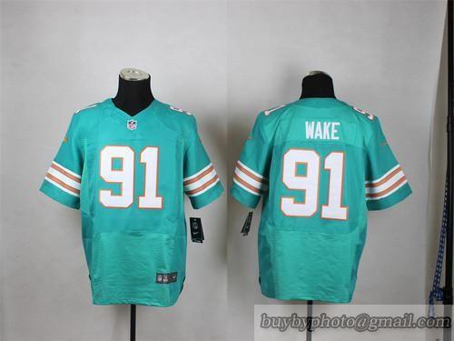 Nice NFL Miami Dolphins #91 Cameron Wake Cyan Jersey | Miami Dolphins