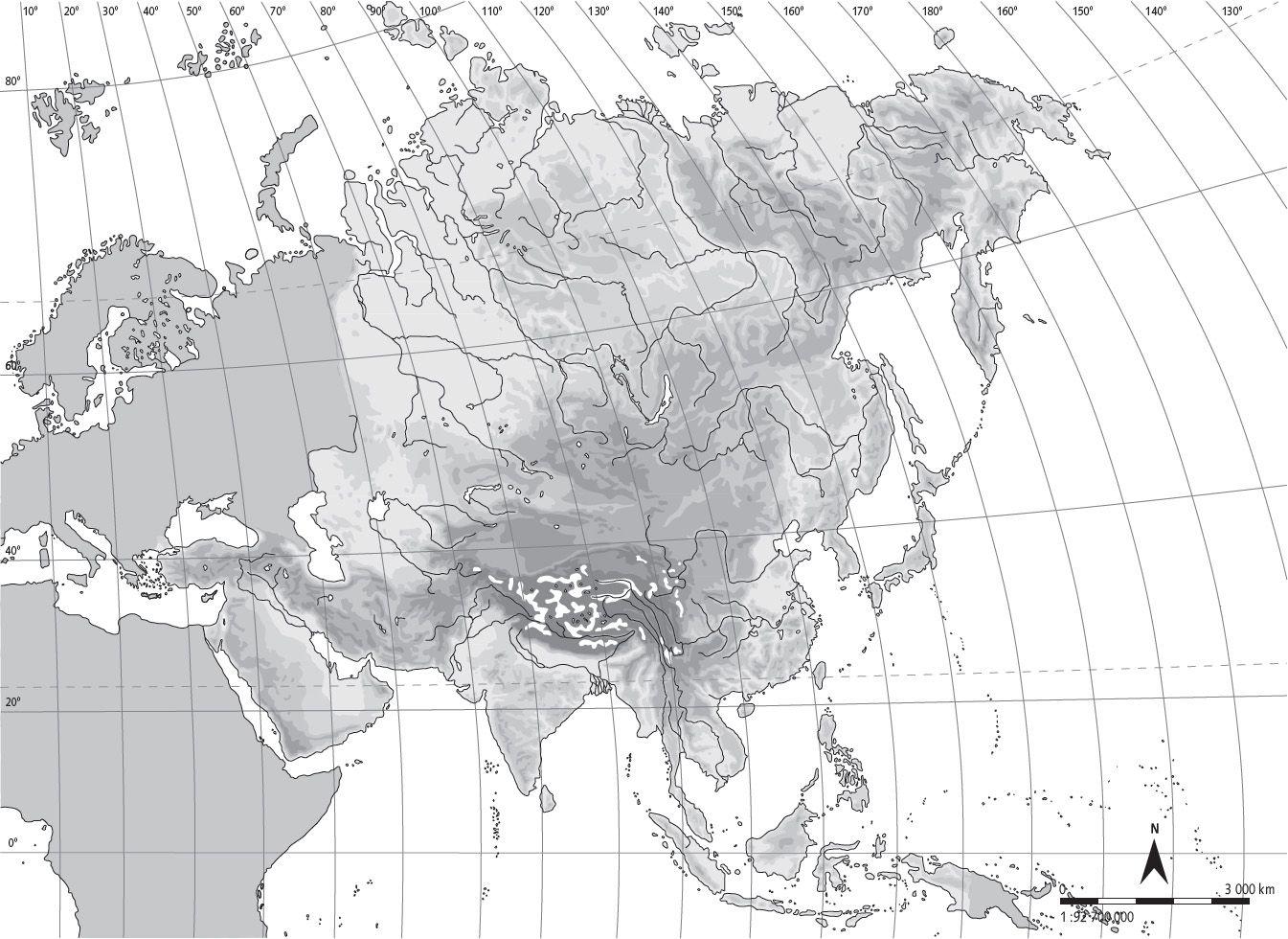 Mapa Mudo Asia Fisico.Pin En Sociales