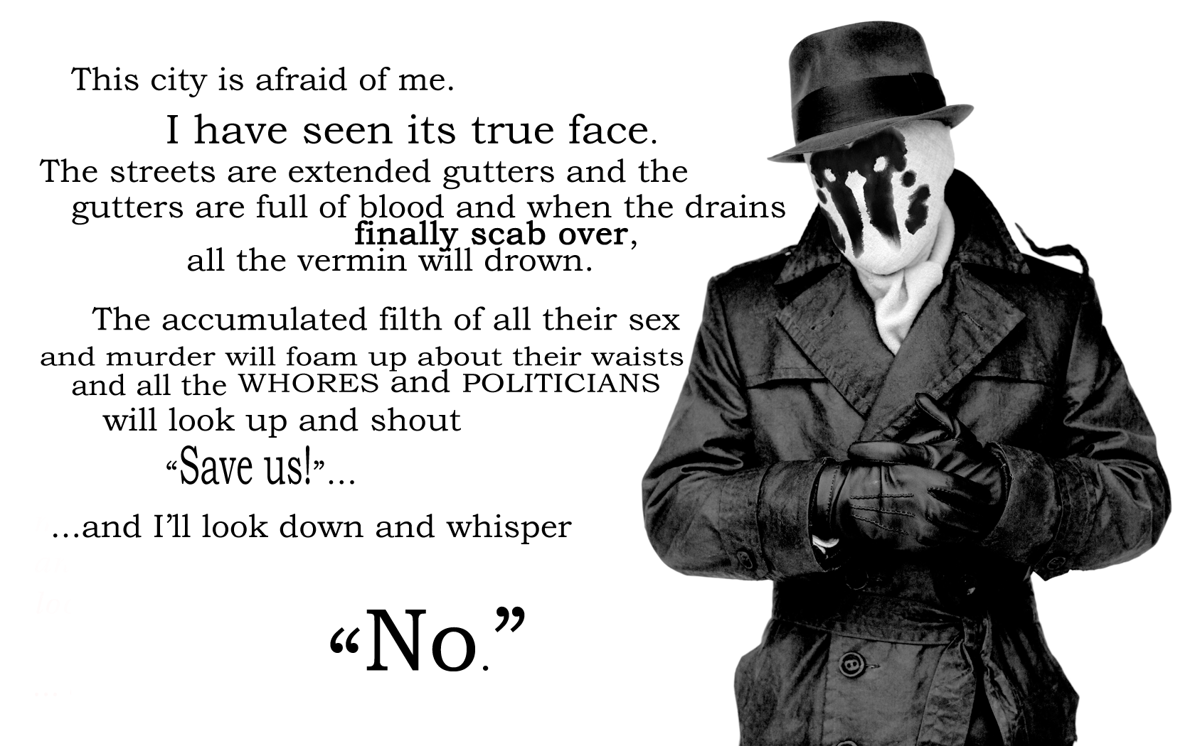 Watchmen The Comedian Quotes