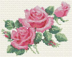 Advanced Embroidery Designs - Morning Roses; machine embroidery cross stitch