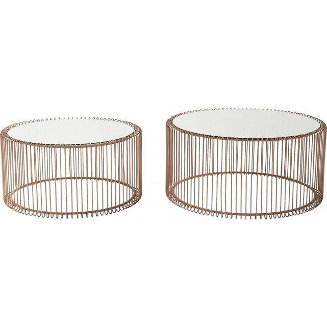 c6f3ef95f5ec6b Tables basses rondes Wire cuivre set de 2 Kare Design   Coffee table ...