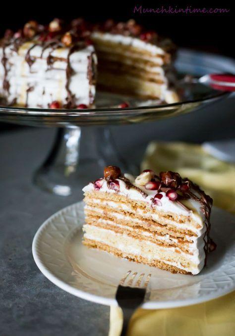 Easy Honey Cake Recipe Medovik - Munchkin Time