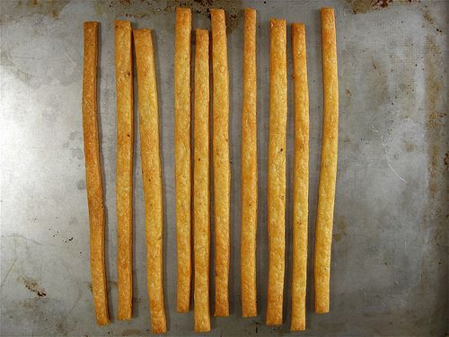 Cheddar Cheese Straws - A Sage Amalgam. Gotta make these for my Cheez-it loving boy, who can't eat Cheez-its anymore.