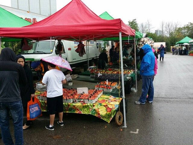 A damp early late summer day at Lions Farmers Market in downtown Mississauga. Check us out at www.LionsFarmersMkt.com