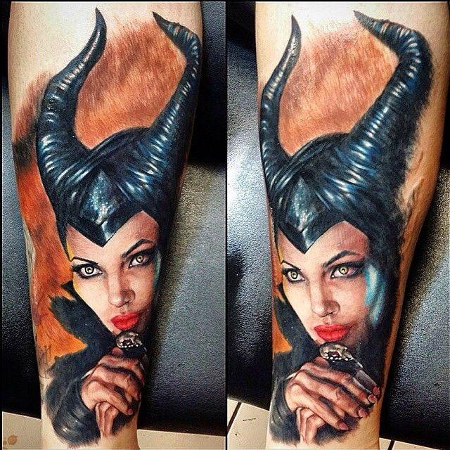 Maleficent done by @sirrisslay on @saralonitattoo #inkeddisney