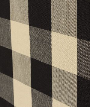 Covington Sandwell Black Tan Fabric Buffalo Check