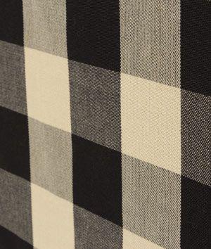 Covington Sandwell Black Tan Fabric Buffalo Check Curtains Black Buffalo Check Curtains Fabric Decor