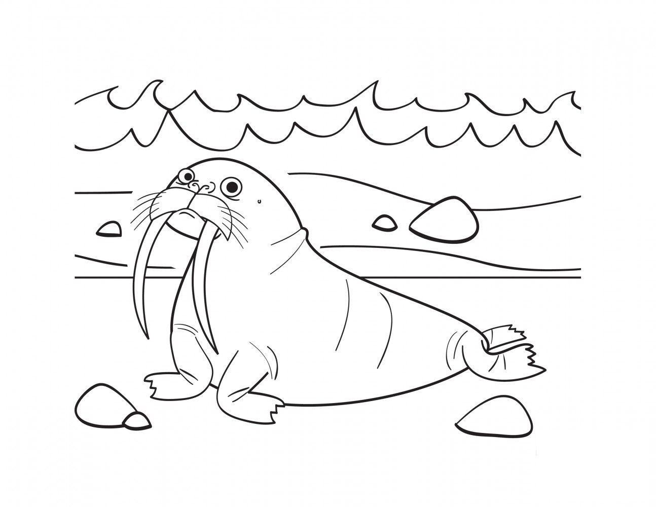 Free Walrus Coloring Pages With Printable Walrus Coloring Pages For Kids