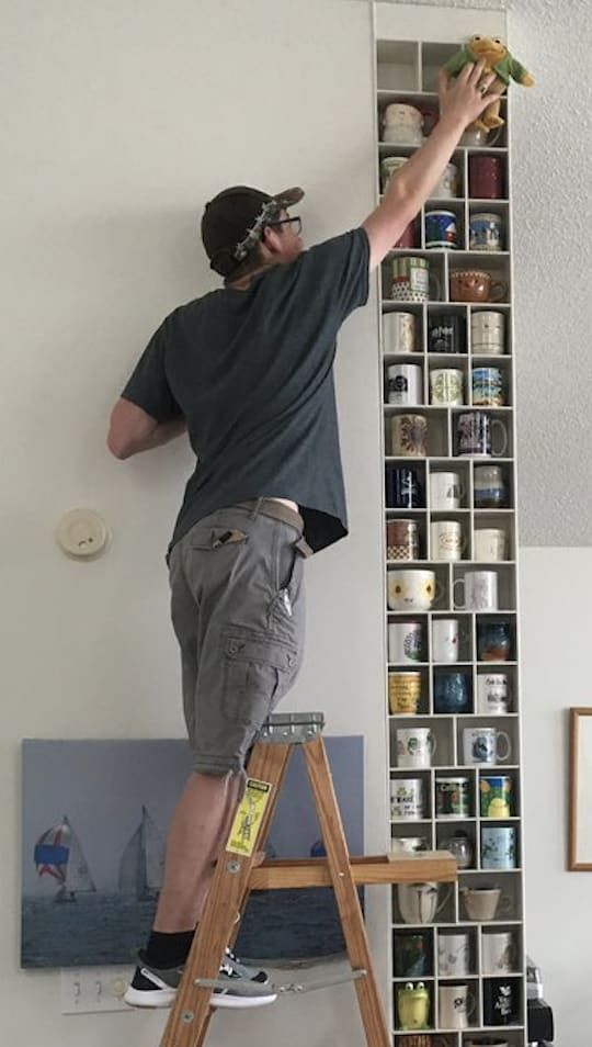 This Man Built A Whole Wall For His Girlfriend's Mug Collection So Yes, You Should Dump Your Boyfriend