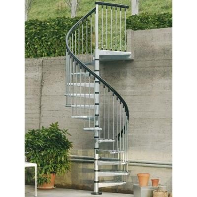 Best Arke Enduro 47 In Galvanized Steel Spiral Staircase Kit 640 x 480