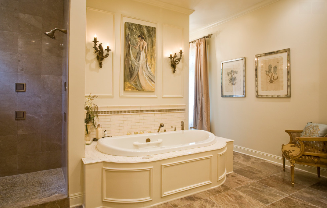 Chic And Elegant Bathroom With An Undermount Amma Oval 7242 Therapeutic  Bathtub. Learn More About