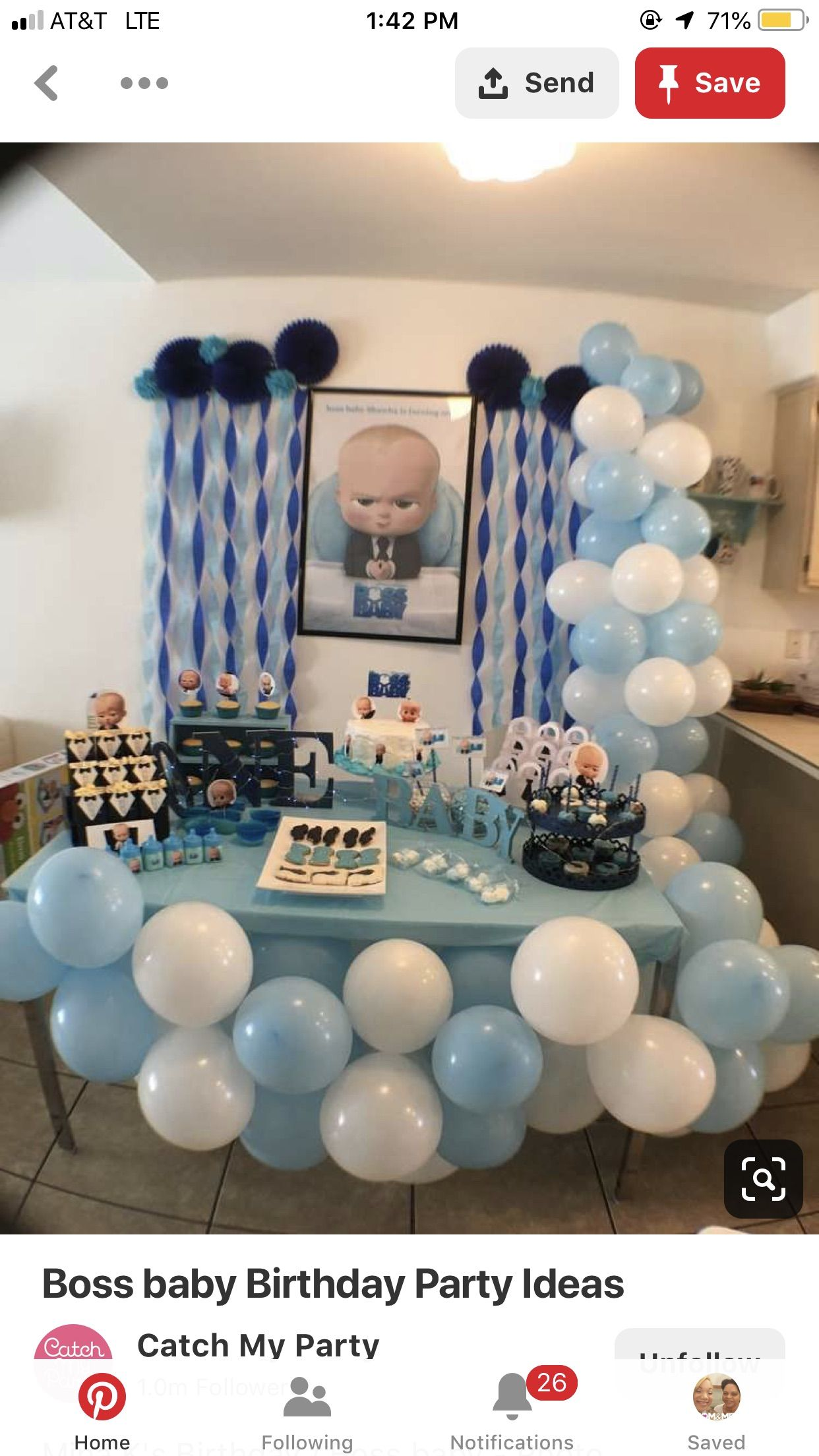 Baby Birthday Party Theme Image By Lia Bias On Boss Baby Baby