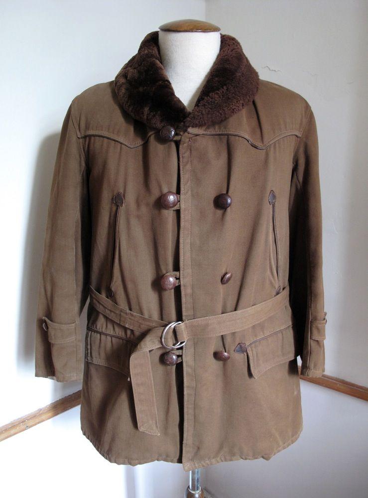 1940 39 s vintage french canadienne mackinaw parka coat mode masculine canadien et masculin. Black Bedroom Furniture Sets. Home Design Ideas