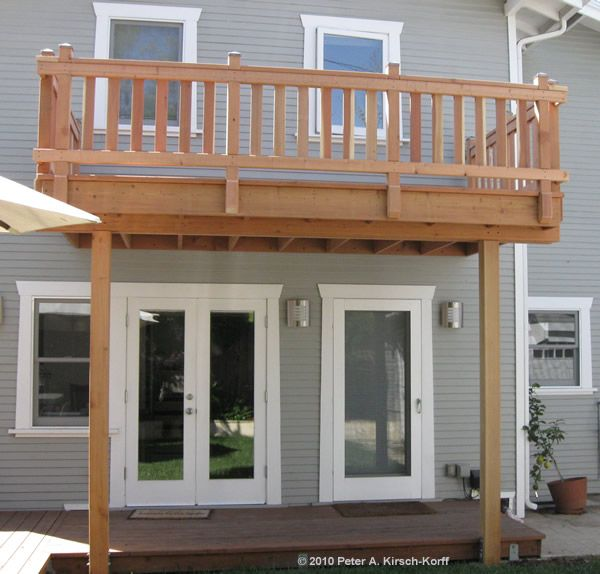 2 story deck designs los angeles wood decks composite for How to build a 2nd story floor