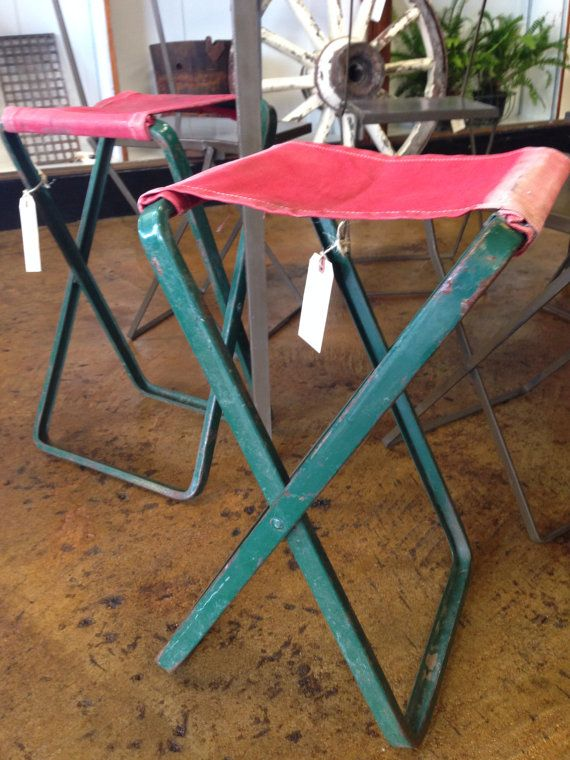 Astounding Vintage Coleman Camping Stool By Mainstreetexchange On Etsy Ocoug Best Dining Table And Chair Ideas Images Ocougorg