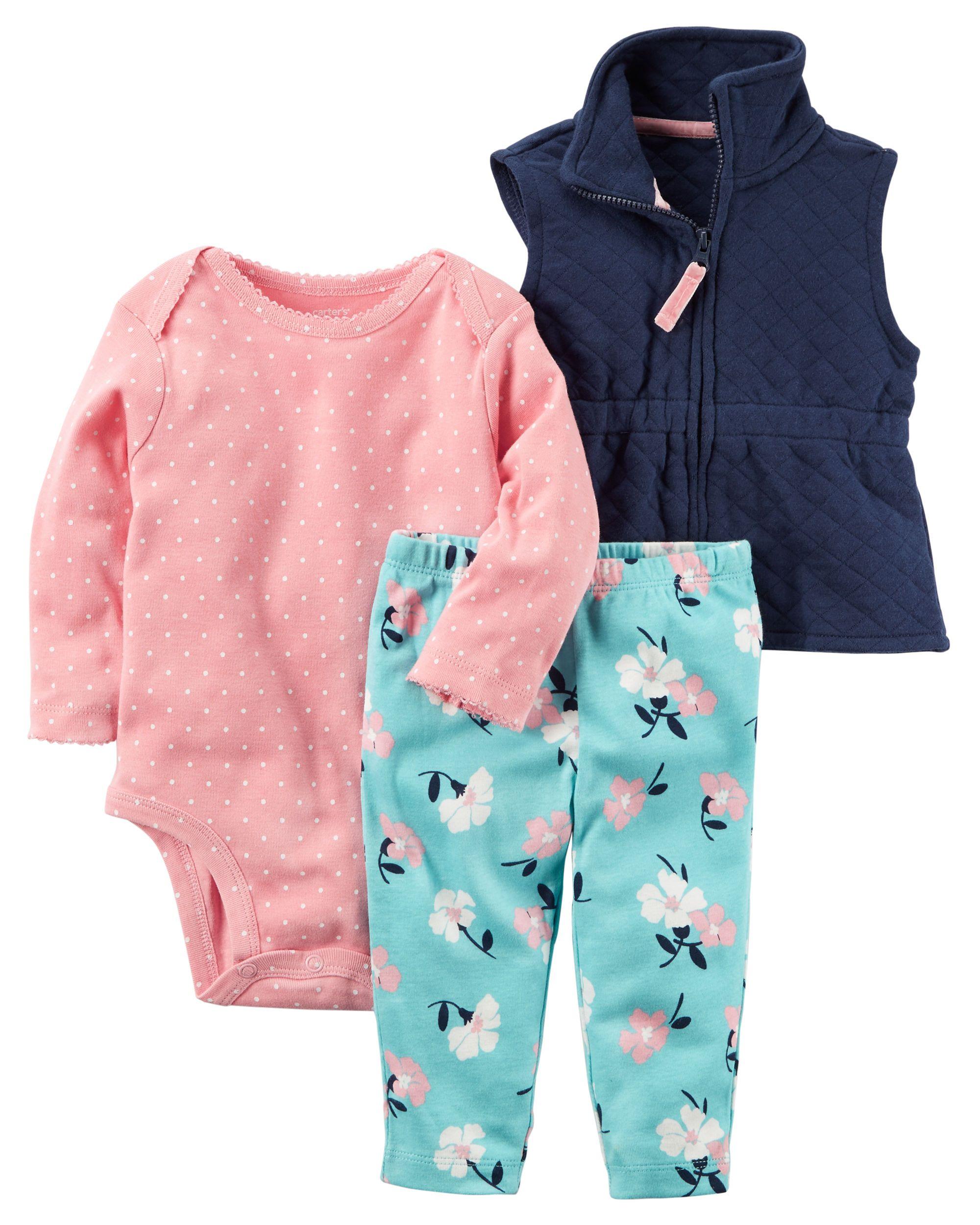 ef8253bab 3-Piece Little Vest Set | Carters.com | Kids Fashion I like ...