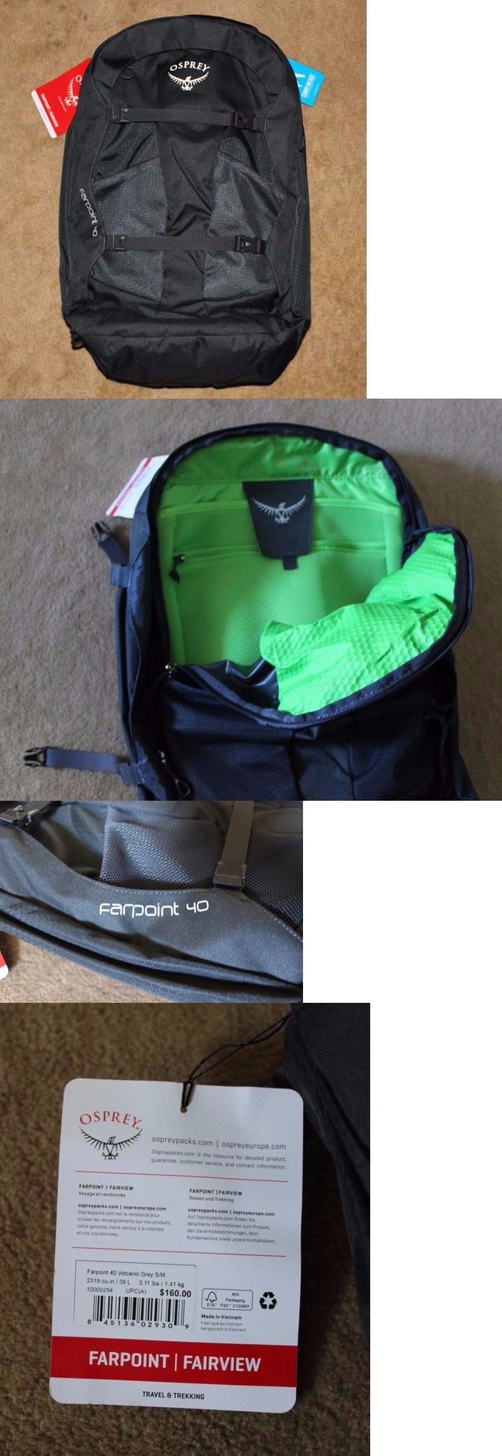 Other Camping Hiking Backpacks 36109  New Osprey Farpoint 40 Travel Backpack  S M Volcanic Gray - 8ec3d484cd