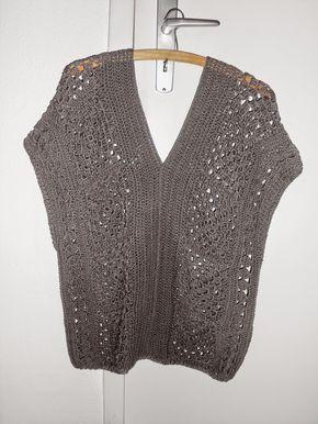 Häkelbluse Häkelpulli Oder Tunika Anleitung Tejidos En Crochet