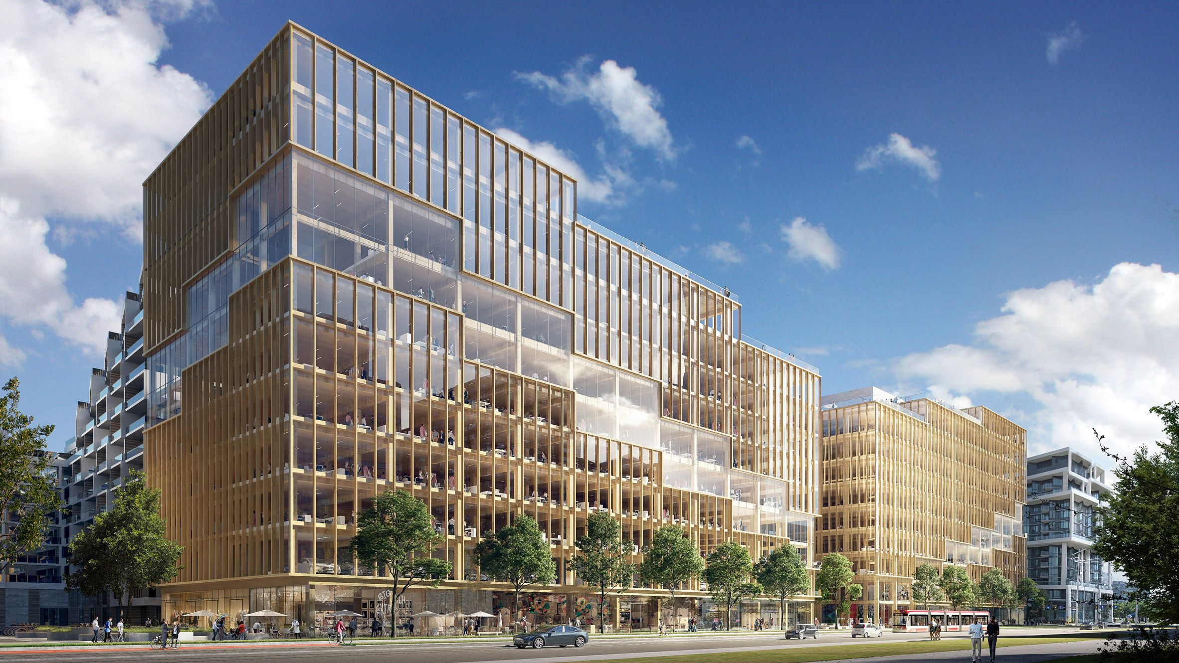 3xn Unveils Tallest Timber Office Building In North America Office Building Timber Buildings Commercial And Office Architecture