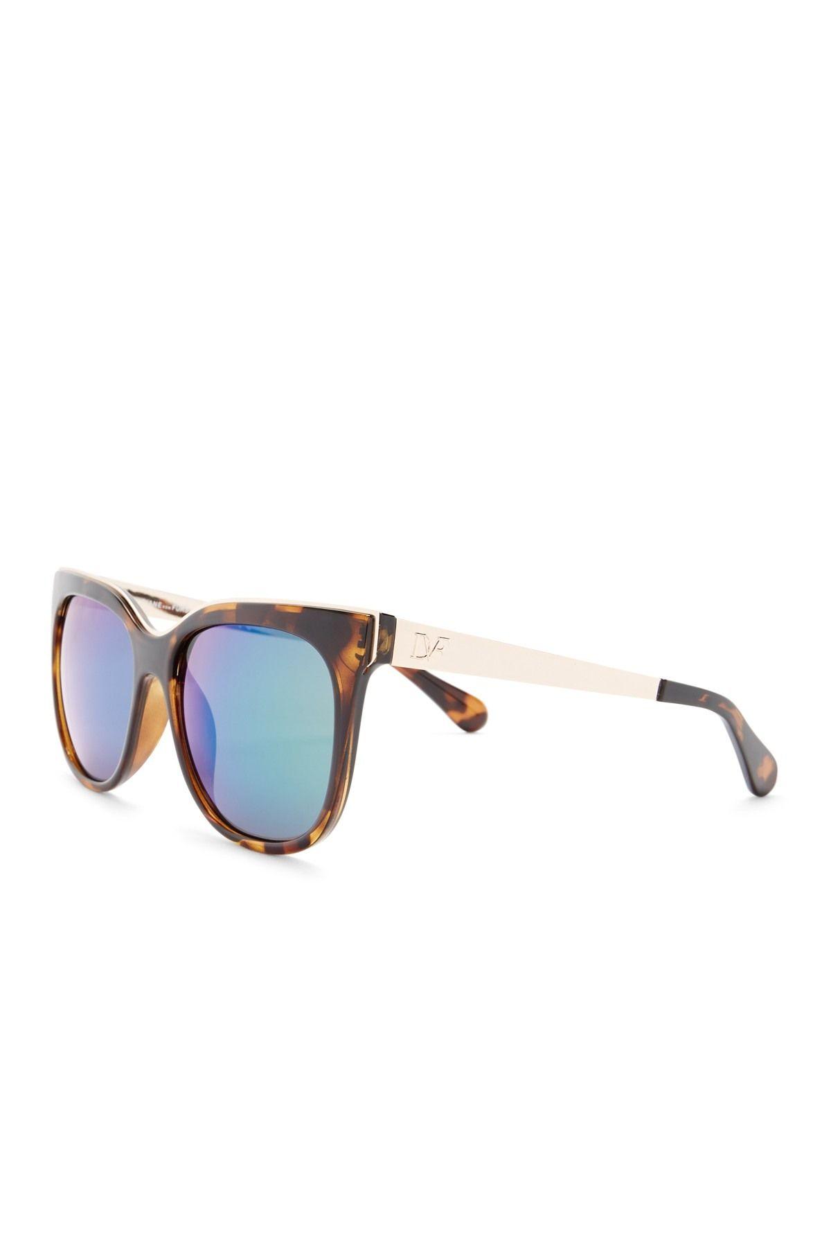 893f322e8d0a Diane von Furstenberg   Women's Metal Brow Cat Eye Sunglasses   Nordstrom  Rack