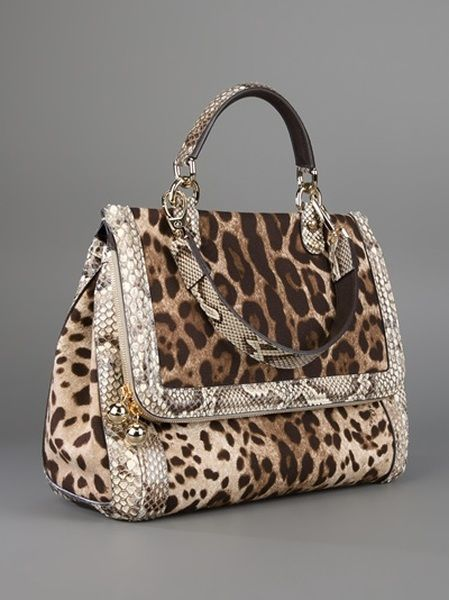 3563f992b4 Dolce   Gabbana Animal Print Bag in Brown (animal)
