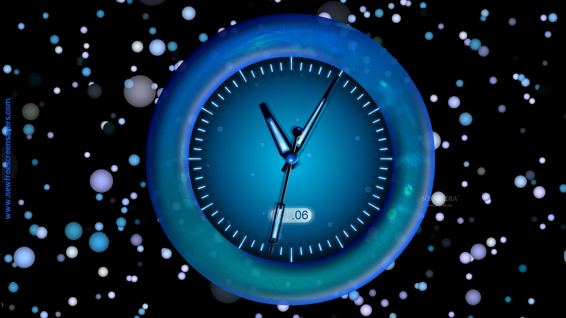 download free radiating clock screensaver radiating clock