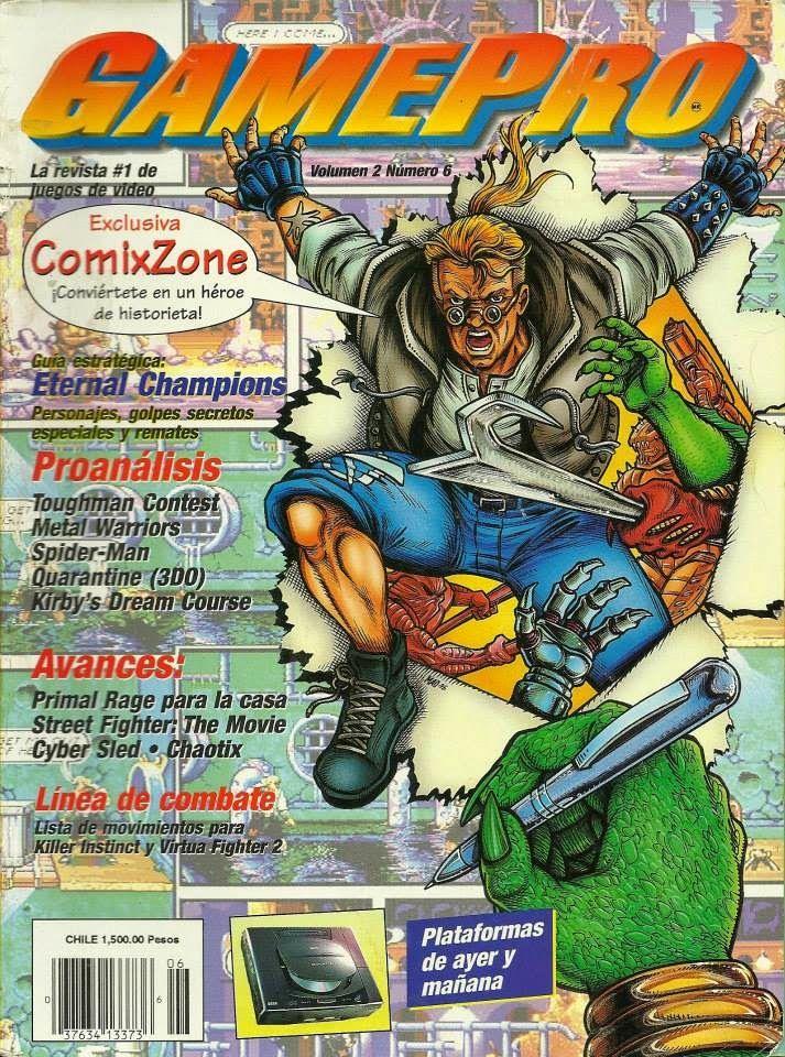 Vol 02 Num 06 Comix Zone Sega Mega Drive Junio 1995 En Gamepro Revistas Juegos Y Rage