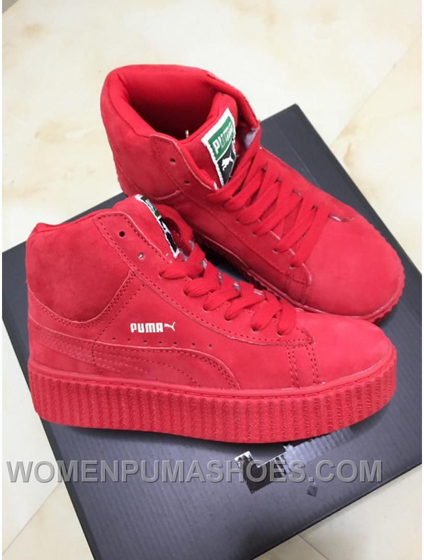 eec54dbfc23c0b Puma X Rihanna WMNS Creeper Wheat Gum Red Women Christmas Deals ...