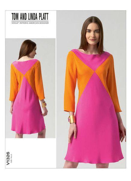 VOGUE 1326 - FROM 2012 - UNCUT - MISSES DRESS