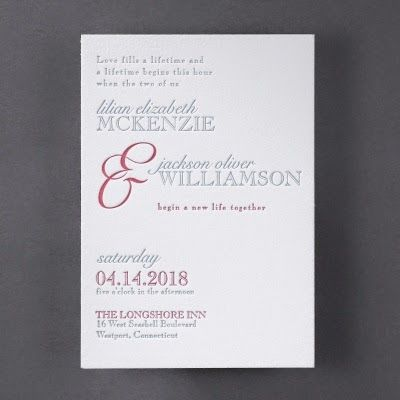 Occasions to Blog: 2015 Wedding Invitation Trends - Letterpress Wedding Invitations (Invitation Link - http://occasionsinprint.carlsoncraft.com/Wedding/Wedding-Invitations/3124-BS31953-Affirmation--Invitation.pro)