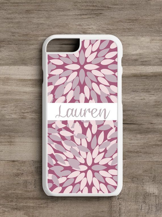 Personalized Mauve Leaf- Cell Phone Case