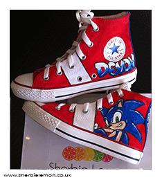 58d96c41791c SONIC THE HEDGEHOG CUSTOM PAINTED CONVERSE FROMM £55