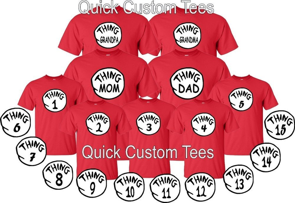 7dd21aa4 thing 1 and thing 2 t-shirts nice cute new kids adults thing one two  Halloween | eBay