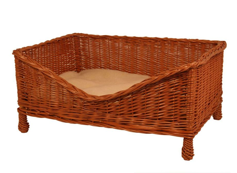 Gadsby Luxury Wicker Dog Bed with Cushion | Newspaper ...