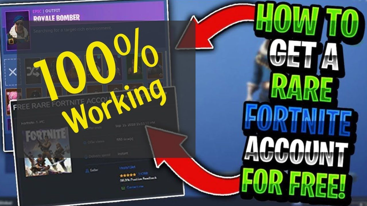 free fortnite account generator with skins 100% Working | No