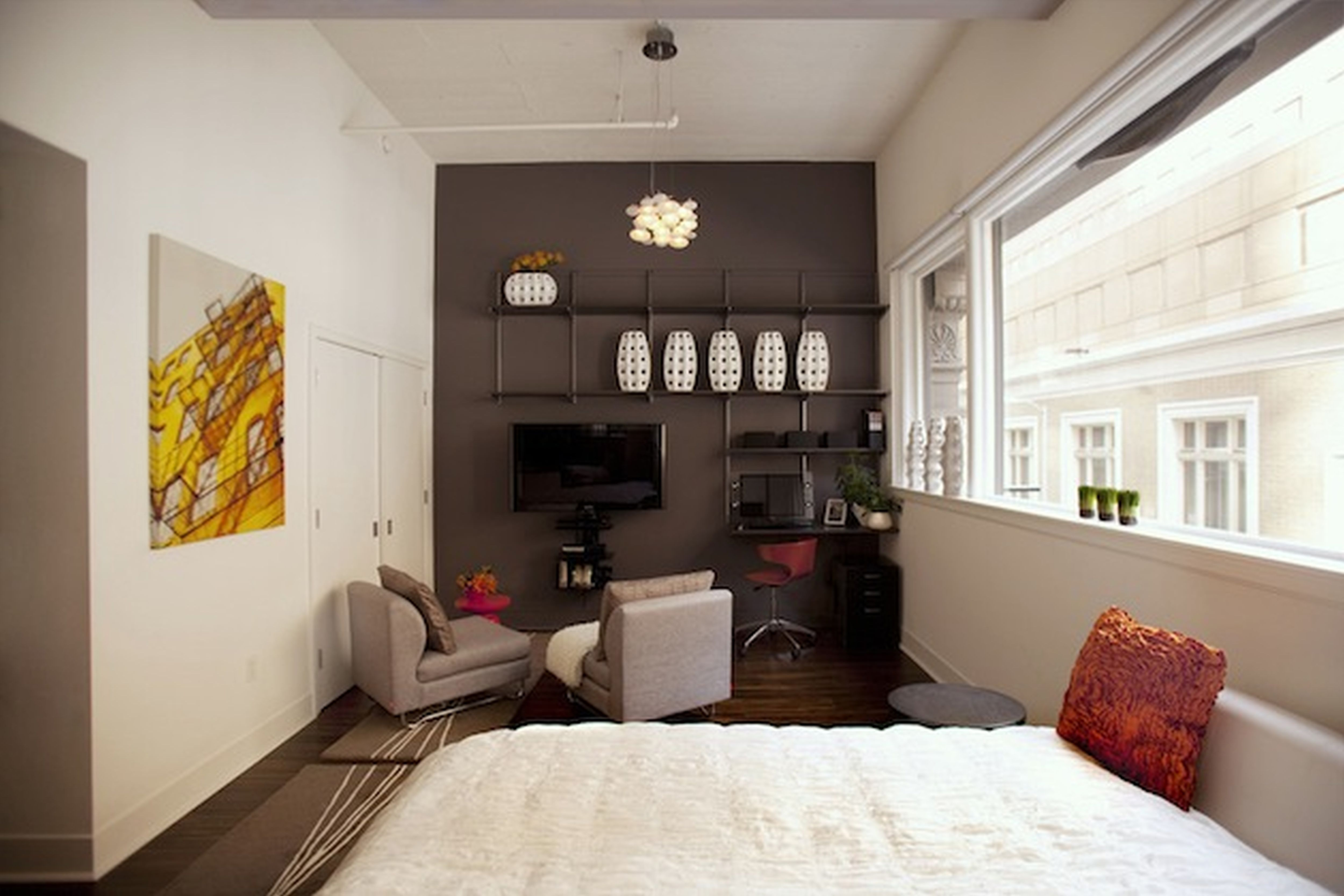 Creative Small Studio Apartment Ideas With Space Saving Partitions ...