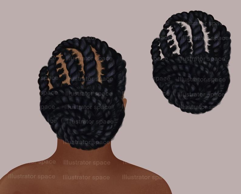African American Hair Clipart Afro Hair Clipart Afro Etsy Sims 4 Afro Hair Afro Hairstyles Afro Hair Clipart