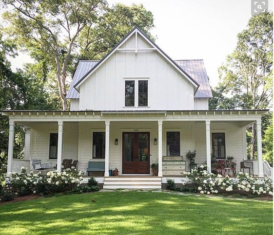 This Farmhouse May Look Modest From Outside, But Thereu0027s Nothing Shy About  Its Grand Interior. House ProjectsFarmhouse PlansCountry Farmhouse Exterior Modern ...