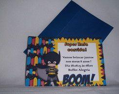 Convite 10x15 - Aniversário - Batman