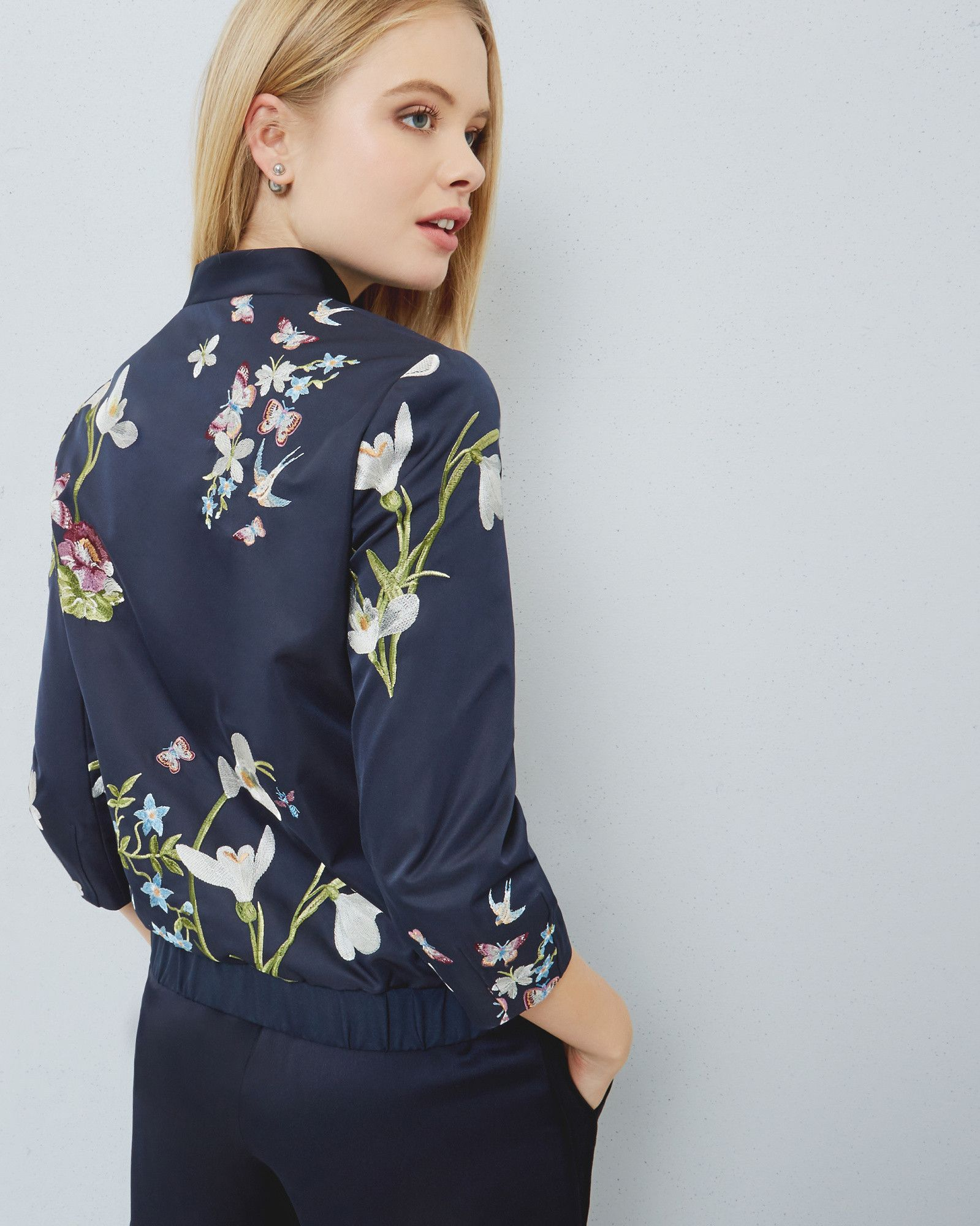 28e04f6b65d7 Spring Meadow bomber jacket - Dark Blue