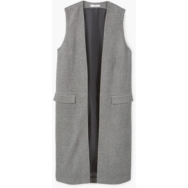 Long Masculine Gilet (2.150 RUB) ❤ liked on Polyvore featuring outerwear, vests, green waistcoat, green vest, gilet vest, long green vest and long vests