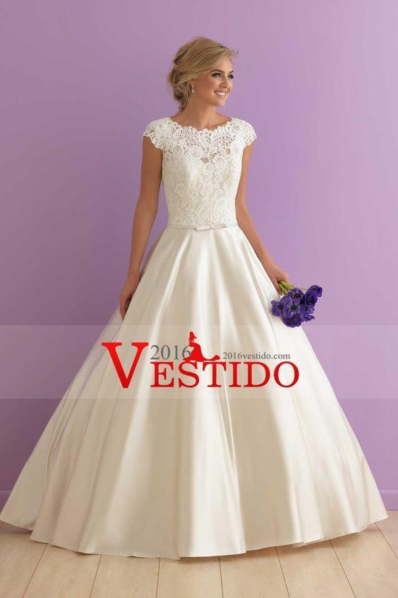 Patrones y Costura: SINGLE WEDDING DRESS WITH LACE | MisCosas ...