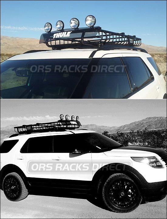 2012 Ford Explorer Roof Rack Cargo Basket Thule 690xt Moab 321 3 Jpg 550 722 Ford Explorer 2012 Ford Explorer Car Mods
