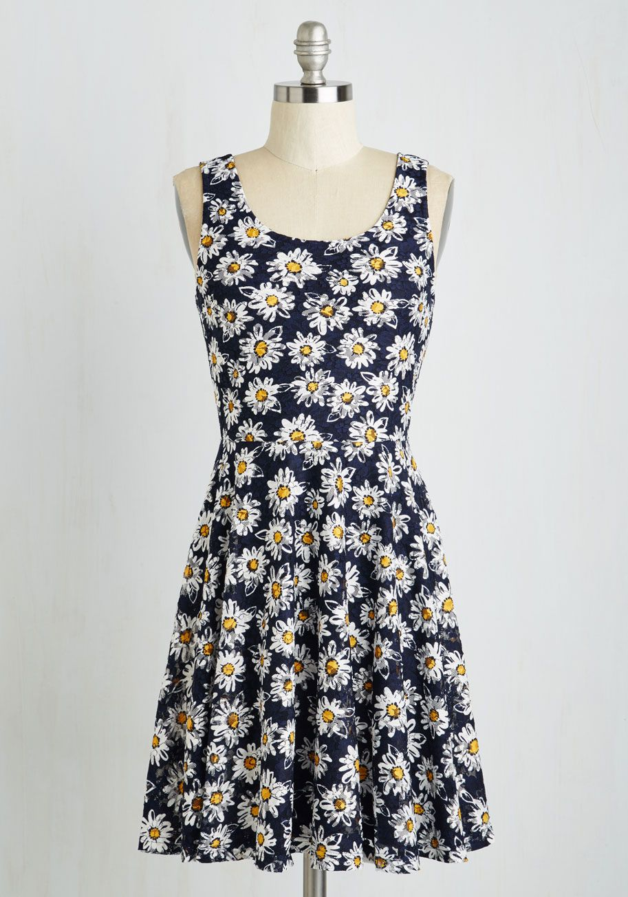 3446b9bb290 Those Were the Daisies Dress. Revel in the retro flair of this  nineties-inspired sundress!  multi  modcloth