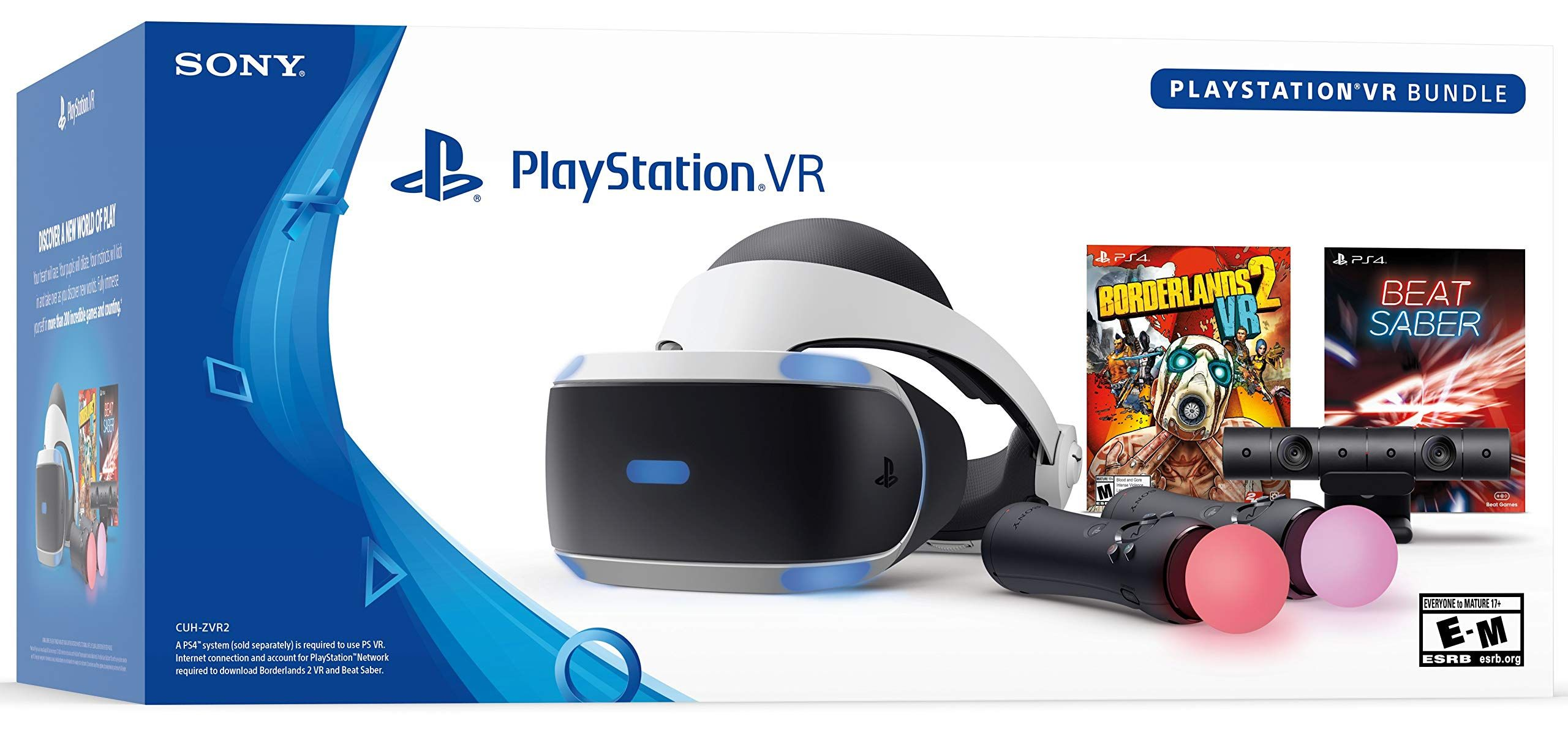 Sony PlayStation VR Borderlands 2 and Beat Saber Bundle PS4