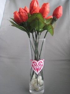 Make candy-kiss roses for your sweetie.